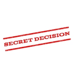 Secret decision watermark stamp vector