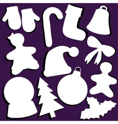 Set of Christmas paper vector