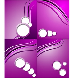Set of elegant abstract purple background with vector