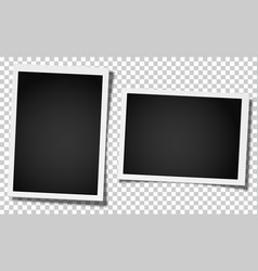 Set of two retro realistic photo frames vector