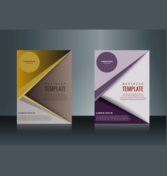Sets of vertical business card print template vector