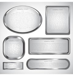 Silver label vector
