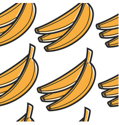 south african food banana bunch seamless pattern vector image