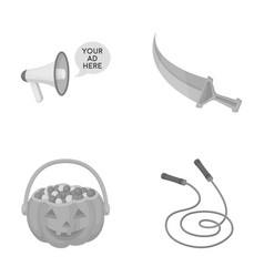 Sport halloween and other monochrome icon in vector
