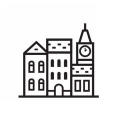 Street and House Emblem vector