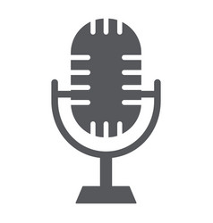 studio microphone glyph icon music and audio vector image