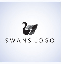 swans ideas design on background vector image