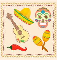 symbolic for the mexican holiday dia de los vector image