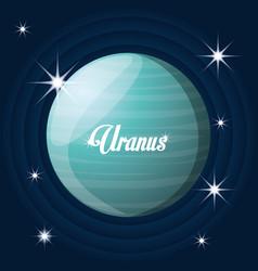 Uranus planet in the solar system creation vector