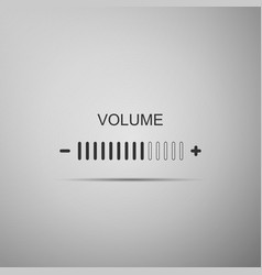 volume adjustment icon isolated on grey background vector image