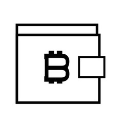 Wallet icon and bitcoin money currency vector