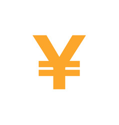 yen currency icon design template isolated vector image