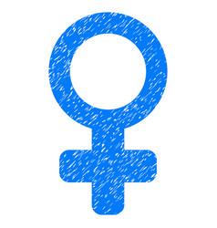 female symbol grunge icon vector image