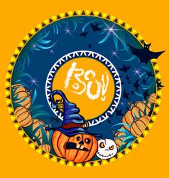 halloween banner orange vector image