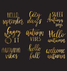hello autumn set vector image