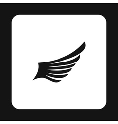 Long wing birds icon simple style vector image