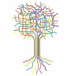subway tree vector image vector image