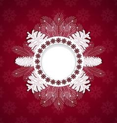 White christmas frame vector image vector image