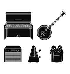 Banjo pianoloudspeaker metronome musical vector