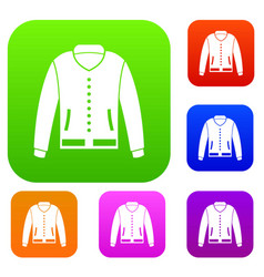 jacket set color collection vector image