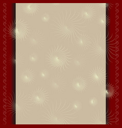 template for a certificate with beige red border vector image