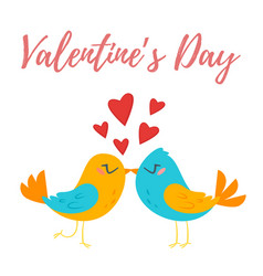 valentines day greeting romantic card vector image vector image