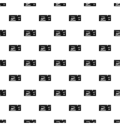 Air ticket pattern simple style vector image