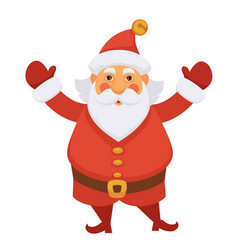 santa claus in new year hat icon for vector image vector image