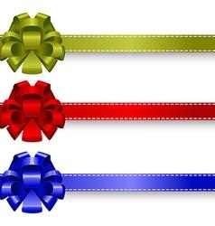 Set realistic bows vector image