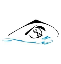 Swimming symbol vector image vector image