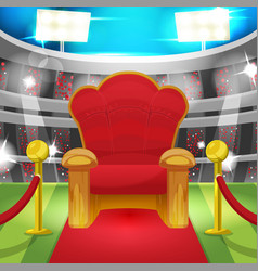 theater luxury chair sport stadium vector image