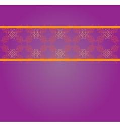 Vintage floral lace pattern vector image