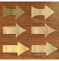 Wooden Background With Arrows Set vector image vector image