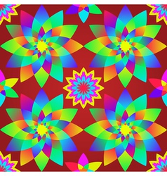 Decorative motley pattern with geometric flowers s vector image vector image