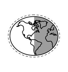 Globe world earth connection technology line vector