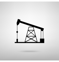 Oil drilling rig sign vector image vector image