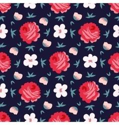 seamless vintage flower pattern vector image vector image