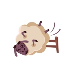 Sheep Falling From The Chair vector image