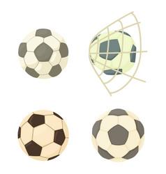 soccer ball icon set cartoon style vector image