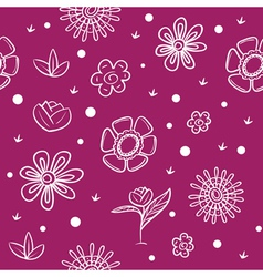 Spring violet background with flowers vector image