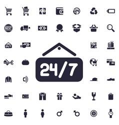24 7 icon vector