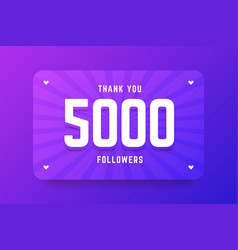 5000 followers in gradient violet vector image