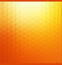 abstract orange sunlight triangle vector image