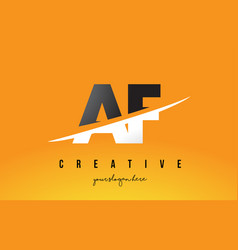 Af a f letter modern logo design with yellow vector