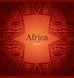 African background design vector image