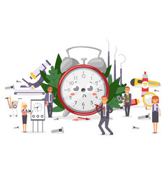 Alarm clocks repair team vector
