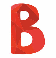 B red alphabet letter isolated on white background vector