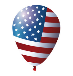 balloon flag american decoration festive glossy vector image