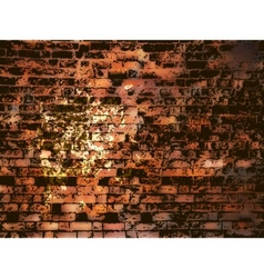Brick wall with grunge paint splash eps 8 vector