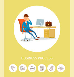 business process man director talking on phone vector image